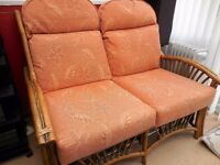 conservatory 2 seater and 1 seater sofas