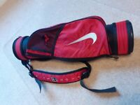Childs Nike Tiger Woods Golf bag and 3 clubs