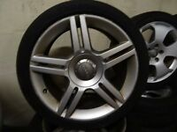 "2 SETS OF 17"" AUDI ALLOYS NMEW TYRES ALL ROUND £180 EACH SET"