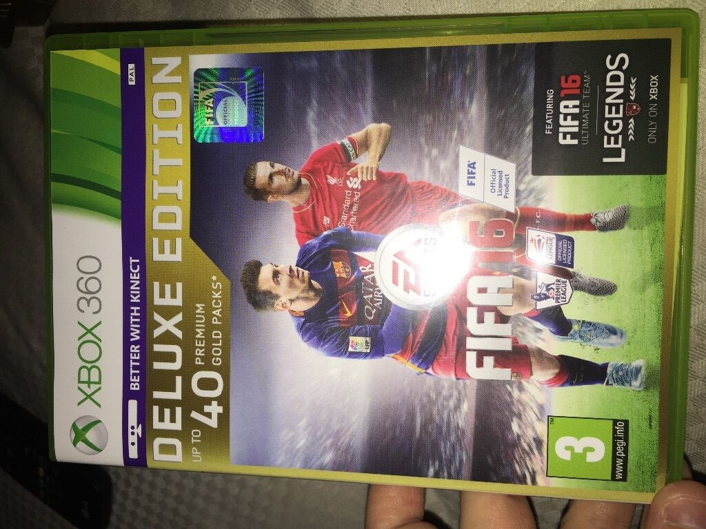 Fifa 16 (super deluxe edition) (2015) xbox one box cover art.