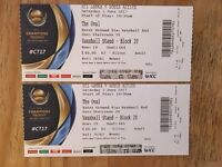 2 x Champions Trophy Tickets - Sri Lanka vs South Africa at The Oval, Saturday 3rd June