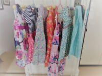 7 girls dresses, next,bonnie jean,tea,strawberry faire,monsoon,2 h&m ages 5 - 9 (max) years