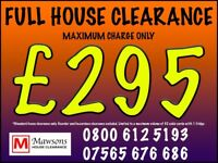 Full House Clearance - Part House Clearance - Rubbish and junk removal from only £40