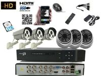8 Channel DVR 1080P With 6 Sony AHD CCTV Camera 2.4 M pixel System HDMI IR HD-TVI with 2TB HDD