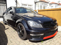 MERCEDES C CLASS SPORT COUPE C250 CDI AMG BLACK 2DR AUTO 52K MILES FSH PANORAMIC SUNROOF