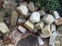 Various granite stones