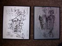 5 Glasgow scenes aluminium block mounted art pictures