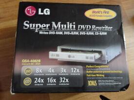 new LG super DVD rewriter