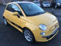 Best Price 2012 62 Fiat 500 Lounge Finished in Stunning Tropicana Yellow 86000 Miles Above Average
