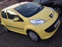 Peugeot 107, 5 door, £20 a year tax, 74,000 miles, long MOT