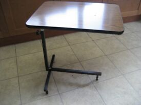 £10 END TABLE LAP TABLE OVER BED TABLE FOLDING TABLE HOSPITAL TABLE