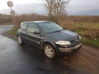 2004 Renault Megane, 1.4 Diesel, long MOT, £30 a year for Road Tax.