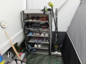 6 shelf camping storage cabinet