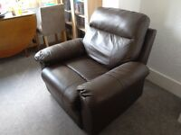 Armchair leather reciner £45.00 - See Argos new Paolo recliner 237/4404 @ £299.99