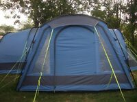 Gelert Horizon 8 with side porch, carpet, footprint and windbreak