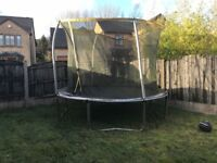 10 Foot / 3 Metre Large Round Trampoline Safety Net Garden Toys Childrens Childs Family RRP £195