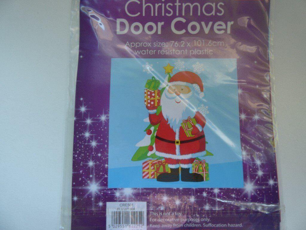 Christmas Santa Door Cover NEW