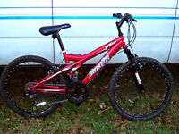 """24"""" wheeled front suspension mountain bike in nice clean cond fully serviced"""