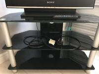 Black television stand