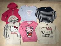 Bundle of 6 Girls Jumpers-Hoodies-knit *6-8 years* Hello Kitty-Sequins