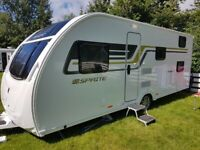 Swift Sprite Major 6 Caravan for sale with awnings and equipment