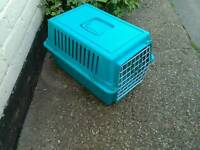 Turquoise pet carrier