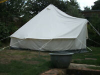 Relum heavy cotton tipi/bell tent 4m x 3m x 2.5m high, excellent condition