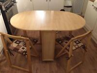 Folding Dining Table and 2 Chairs