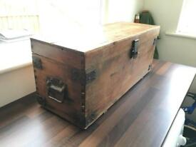 Shabby chic vintage style storage chest