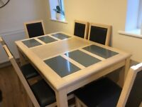 Dining Table 6 Chairs good condition ( few marks on table)