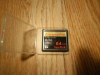 SanDisk Extreme Pro - 64GB Compact Flash card 90Mb/s UDMA 6