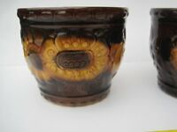 Retro Flower pots from 1960's / 1970's BARGAIN £8 the pair