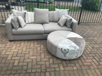 DFS VOYAGE SOFA, FOOTSTOOL AND CHAIR RRP: £2000.00