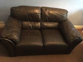 Chocolate brown 2 seater and 3 seater sofa
