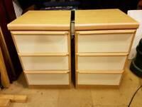 2 * 3 drawer bedside cabinets