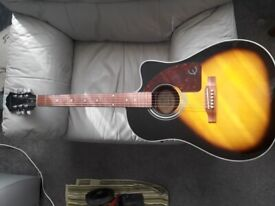 Epiphone AJ-210CE VS electro acoustic guitar