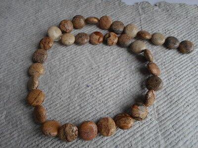 """16"""" Strand of Vatigated Jasper ~ Coin ~ Beads"""