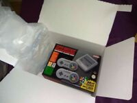 BRAND NEW IN BOX (UNOPENED) NINTENDO SNES MINI with 2 Controllers