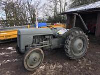Ferguson grey fergie tractor & finger bar mower