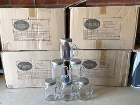 102 drinking jars with screw lids