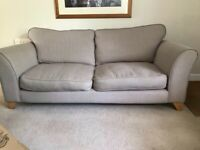 2 x 3 seater DFS sofas in beige/oatmeal