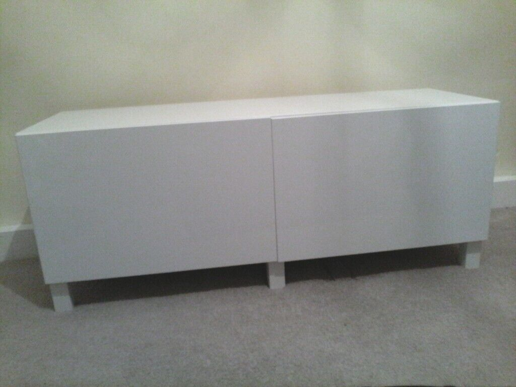 Ikea Besta Sideboard White Gloss In Blaydon On Tyne And Wear Gumtree