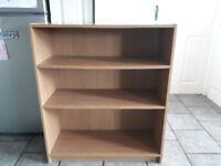 Argos oak veneer bookshelf