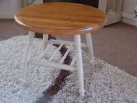 SHABBY CHIC OCCASIONAL/COFFEE TABLE PAINTED IN ANNIE SLOAN OLD OCHRE (CREAM)