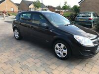 2007 VAUXHALL ASTRA 5DOORS BLACK 1.4 PETROL WITH MOT 12 MONTHS AND 2 SEAT KEYS.