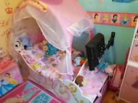 Lovely princess bed and mattress