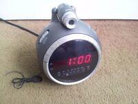 L.E.D clock radio