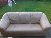 FREE 2 seater leather sofa and matching chair