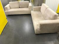 2x Italian suede sofa, Free delivery