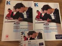 ACCA P1 Kaplan full study kit
